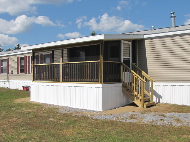 Manufactured mobile home porches and deck Decks and porches for mobile homes