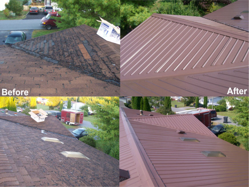 Before amp after double wide with a dormer