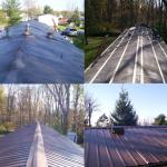 Before, During & After Metal Roof. Malta NY.